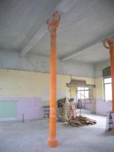 Protección al fuego de pilares de fundición