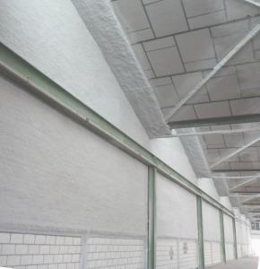 Particiones verticales resistentes al fuego de más de 4 metros de altura