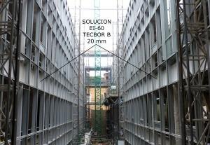 Sectorización en edificios con fachada de muro cortina