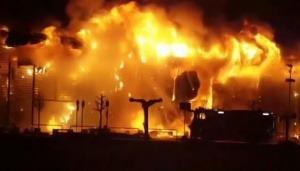 Incendio en un centro comercial de Italia