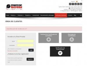 Nuevo espacio online para solicitar los certificados de suministro de Mercor Tecresa®