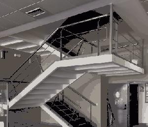 Protección al fuego de escaleras metálicas de evacuación