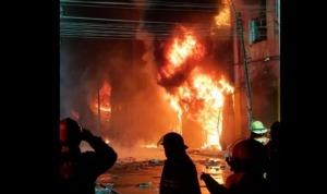 Incendio en Las Malvinas, un centro comercial en Perú