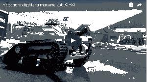 Tecnología contra incendios: tanque robot de bomberos