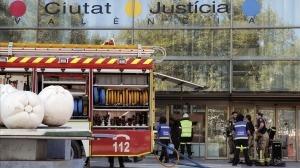 Incendio en la Ciudad de la Justicia en Valencia