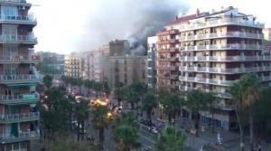 20 heridos en Barcelona por un incendio en una pastelería