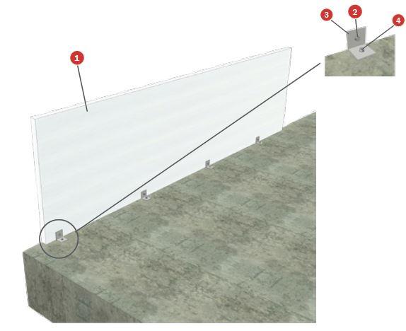 muro cortina sin paso de forjado