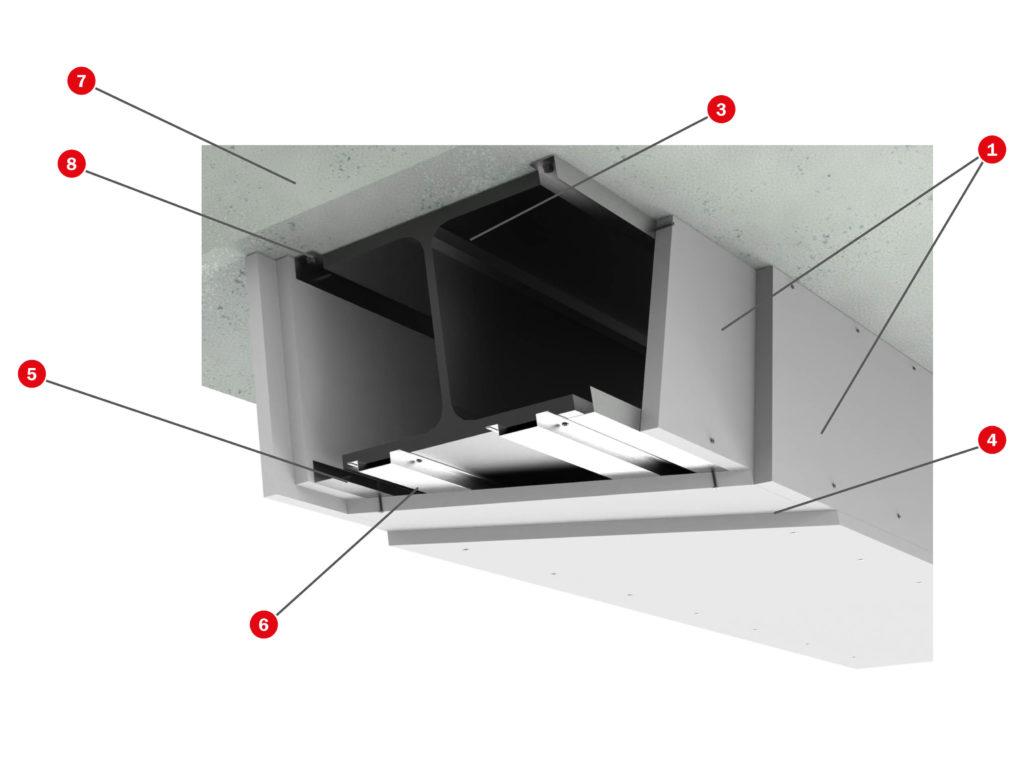 Protección estructura metálica Tecbor Vigas