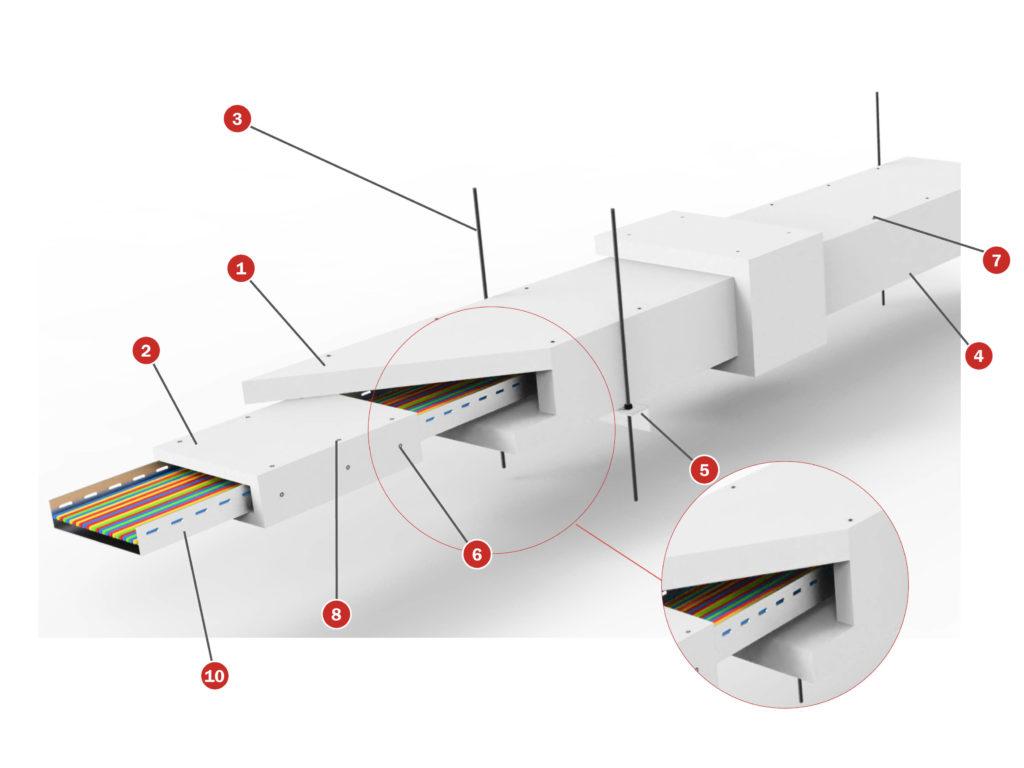 Protección bandejas de cables Tecbor