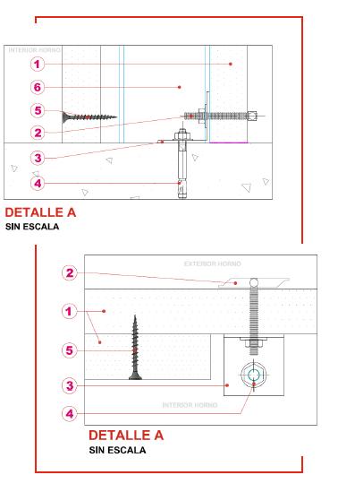 Muro cortina independiente sin paso de forjado tecbor 30 ei60